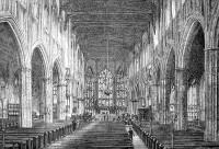 Wnętrze katedry w Coventry, rycina z XIX w. - fot. Wikipedia