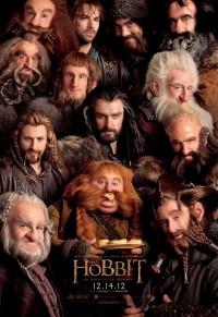 Hobbit - amerykański plakat ze wszystkimi krasnoludami
